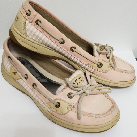 Sperry Topsiders Shoes Size 7 Light Pink Beige